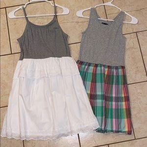 New Gap White/Gray & Plaid Dresses XXL 14-16